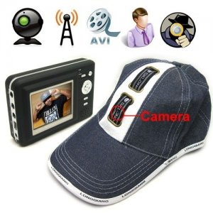 1GB Wireless Spy Camera Hat with Wireless MP4 Player Receiver